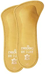 Pedag 123 De Luxe 3/4 Leather Orthotic with Metatarsal Pad, Longitudinal Arch Support, Tan, Women\'s 6