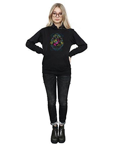 Mujer Hogwarts Capucha Crest Negro Neon Potter Harry wa40xZqn