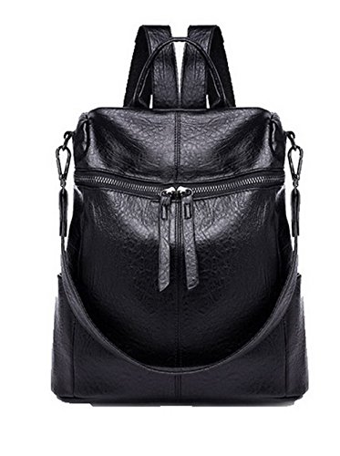 Women Handbags Casual Pu Shoulder Bags Zippers Agoolar Retro Black HqZdBxnHEA