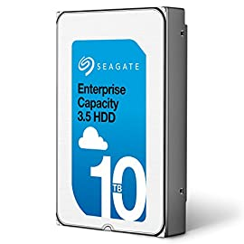Seagate Enterprise Capacity 3.5 HDD 10TB (Helium) 7200RPM SATA 6Gb/s 256 MB Cache Internal Bare Drive (ST10000NM0016) 14 10TB per drive for 25% more petabytes per rack Industry's lowest power and weight for optimum data center TCO;Forged, wrought-aluminum base and a helium sealed-drive design with uniform density and no porosity Superior material and weld-width design for a more robust, hermetically sealed-driveenclosure that protects from helium leaks