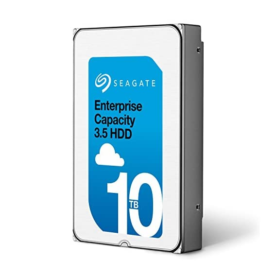 Seagate Enterprise Capacity 3.5 HDD 10TB (Helium) 7200RPM SATA 6Gb/s 256 MB Cache Internal Bare Drive (ST10000NM0016) 1 10TB per drive for 25% more petabytes per rack Industry's lowest power and weight for optimum data center TCO;Forged, wrought-aluminum base and a helium sealed-drive design with uniform density and no porosity Superior material and weld-width design for a more robust, hermetically sealed-driveenclosure that protects from helium leaks