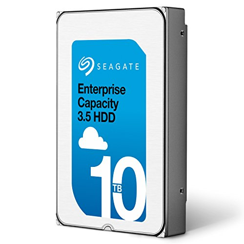 Seagate Enterprise Capacity 3.5 HDD 10TB (Helium) 7200RPM SATA 6Gb/s 256 MB Cache Internal Bare Drive (ST10000NM0016) by Seagate