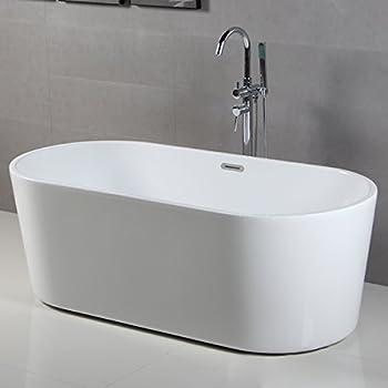 Ove Decors Serenity 71 Inch Freestanding Acrylic Bathtub