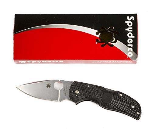"Spyderco Native5 C41PBK5 Pocket Knife 3"" Folding Blade Plain Edge Drop Point"
