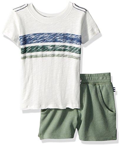 Splendid Spring - Splendid Baby Boys Reverse Stripe Print Top Set, White, 12/18