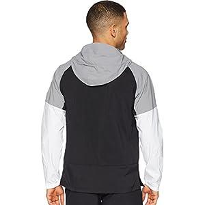 adidas Men's Sport ID Full Zip Woven Hoodie Black Large