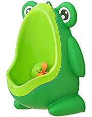Colcolo Boys Pee Toilet Frog Kids Potty Urinal with Funny Aiming Target - Green