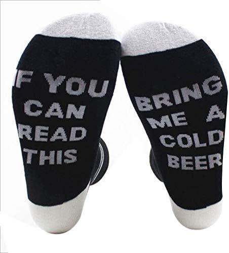 Daliuing Calcetines de Invierno Calcetines Calientes Hombre//Calcetines de Las se/ñoras para la Moda de Invierno Calcetines de algod/ón declaraci/ón de Personalidad if You Can Read This