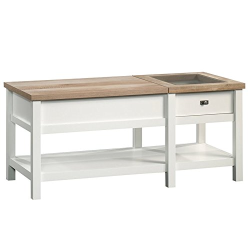 Sauder Cottage Road Lift-top Coffee Table, L: 42.91'' x W: 19.02'' x H: 18.98'', Soft White finish by Sauder