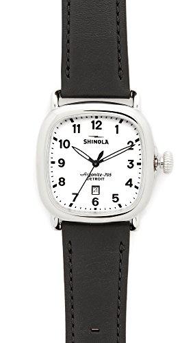 Shinola Men's The Guardian 41mm Watch, Black/Milky White, One Size
