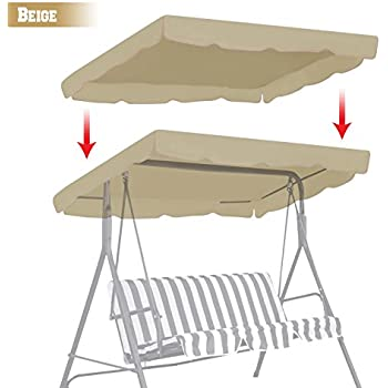 BenefitUSA Patio Outdoor 77 x43  Swing Canopy Replacement Porch Top Cover Seat Furniture (  sc 1 st  Amazon.com & Amazon.com : New Deluxe Outdoor Swing Canopy Replacement Porch Top ...
