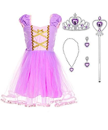 Suyye Princess Rapunzel Cinderella Costume Dress with Accessories