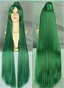 Sailor Moon Green Synthetic 100cm Long Straight Wig Cosplay Cartoon Costume Hair