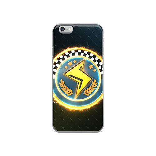 iPhone 6/6s Case Anti-Scratch Gamer Video Game Transparent Cases Cover 3D Lightning Cup Emblem Gaming Computer Crystal Clear -