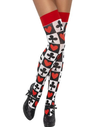 - Stockings with Poker Pattern - One Size