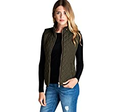 1b907c5767 Active USA Quilted Padding Vest With Suede Piping Details Sizes from S to  3XL (Dusty Pink-Small) at Amazon Women's Coats Shop