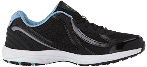 Ryka Women's Dash 3 Walking Shoe, Grey/Pink, US Black/Meteorite/Nc Blue