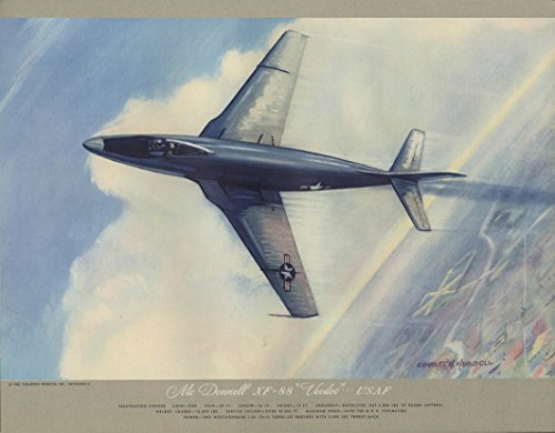 usaf-mcdonnell-xf-88-voodoo-penetration-fighter-hubbell-print-1950