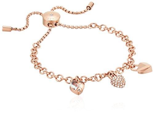 """Michael Kors """"Logo Logo Love Rose Gold-Tone Slider Bracelet"""