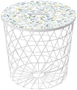 Lightclub-Shop.de bijzettafel Basket wit motief 77 bloemen