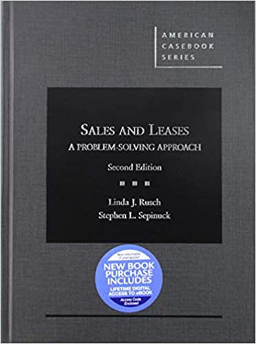 Cover: Sales and Leases