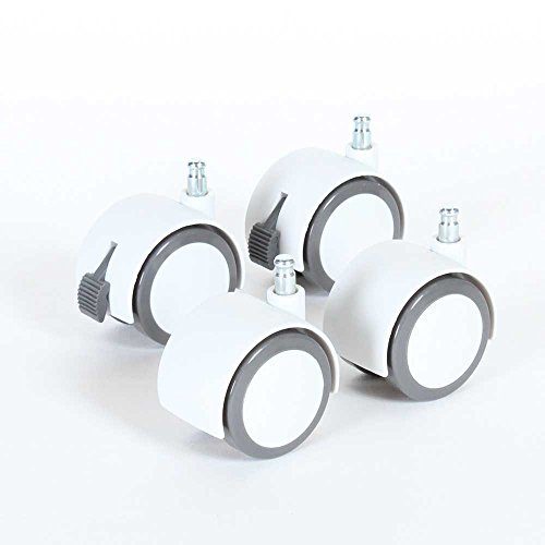 babybay Rolling Casters White / Gray