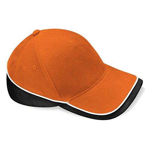 Competition Piscina Visera 100 Unisex Gorra Modelo Negro Naranja Verano deportiva Beechfield algodón Blanco 0qxXTZ