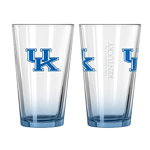 NCAA Kentucky Elite Pint Glasses | Kentucky Wildcats Beer Glasses - Set of 2 (Wildcats Glass)