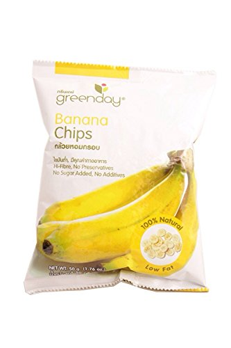 Banana Chips,thai Snack,healthy Snack,real Fruit 1.76 Oz.(50 G.)