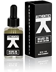 Aceite de barba producido en Alemania - 1 x 30 ml - Calidad Premium - Aceite natural para el cuidado de la barba de AUTHENTIC STUFF BLACK EDITION