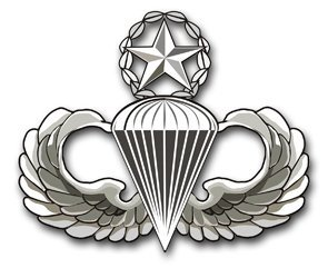- US Army Master Parachutist Wings Decal Sticker 3.8