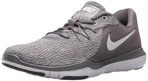 Nike Women's Flex Supreme TR 6 Training Shoe (9 M US, Gunsmoke White Atmosphere Grey) (Nike Flex Supreme Tr 3 White Training Shoes)