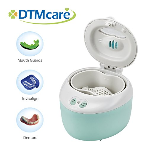 Ultrasonic Denture (DTMCare Denture, Dental Cleaner UV (Blue color) Ultrasonic Sterilization for Denture, Mouth Guard, Invisalign, Retainer. Snore Guard Sleep Retainer. FDA Registered/CE Medical Approved.)