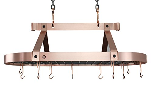 Enclume PR16BWG SCP Oval Ceiling Pot Rack, 36