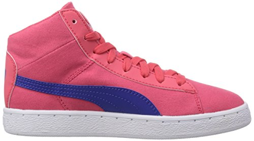 Puma 48 Mid canvas Unisex-Kinder Hohe Sneakers Rot (geranium-clematis blue 03)