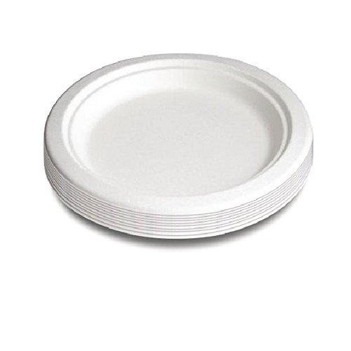 Ling Oval plate 100% biodegradable/compostable 26x20cm, 25pcs/pack