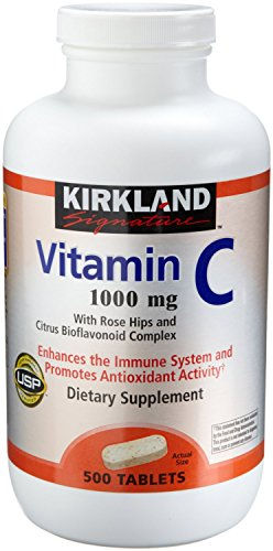 Kirkland Vitamin C with Rose Hips and Citrus Bioflavonoid Complex (1000 mg), 1000-Count ((1000 mg ))