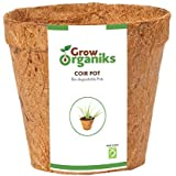 Grow Organiks Coir Biodegradable Planting Pots - 4 inch - Pack of 12