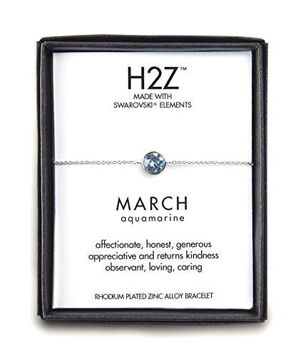 Pavilion Gift Company H2Z 16151 March Aquamarine Adjustab...
