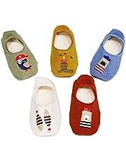 Z-Chen Pack de 5 Pares Calcetines Antideslizantes para Bebé Niños