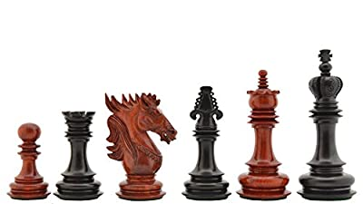 Chessbazaar The Dragon Knight Series Chess Pieces Carved In Bud Rose / Ebony Wood