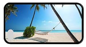 Hipster custom made iPhone 4S case hammock beach palms paradise TPU Black for Apple iPhone 4/4S
