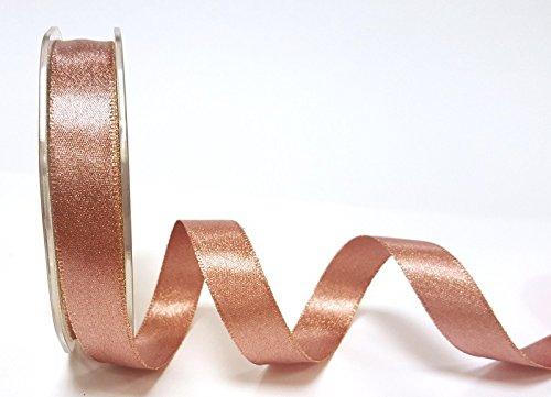 Or Rose Sparkle satiné 16mm Ruban en ruban Bertie's sur une longueur de 3m (Note: Ceci est une coupe à partir d'un rouleau présenté sur une carte Bertie's) Bertie' s Bows