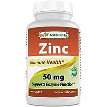 Best Naturals Zinc supplement as Zinc Gluconate 50mg 240 Tablets (1)