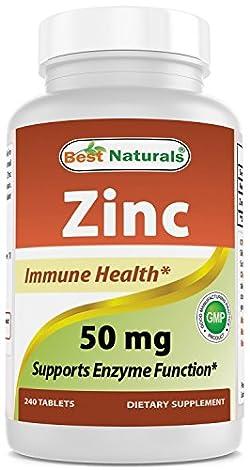 Best Naturals Zinc 50 mg 240 Tablets