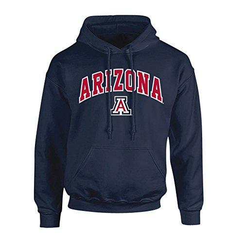 (Elite Fan Shop NCAA Men's Arizona Wildcats Hoodie Sweatshirt Team Color Arch Arizona Wildcats Navy X)