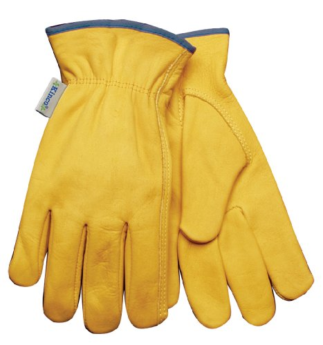 KINCO 98W-S Women's Unlined Cowhide Gloves, Keystone Thumb, Small, Golden