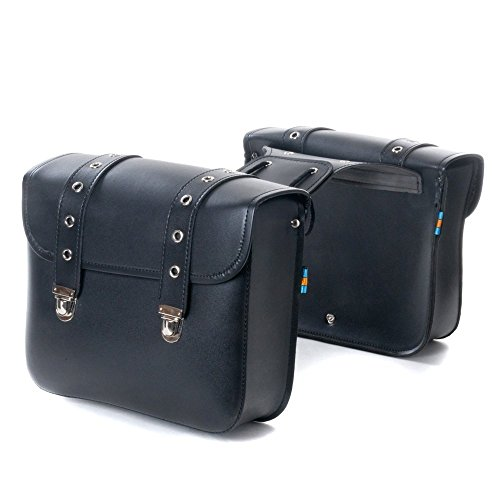 2PC Motorcycle Bag Saddlebags with 2-Strap Tool Bag for sale  Delivered anywhere in USA