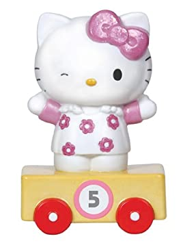 Precious Moments Hello Kitty Train Car Number 5 Figurine