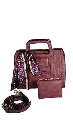 Susen Bag For Women,Rose Red - Handbags Sets